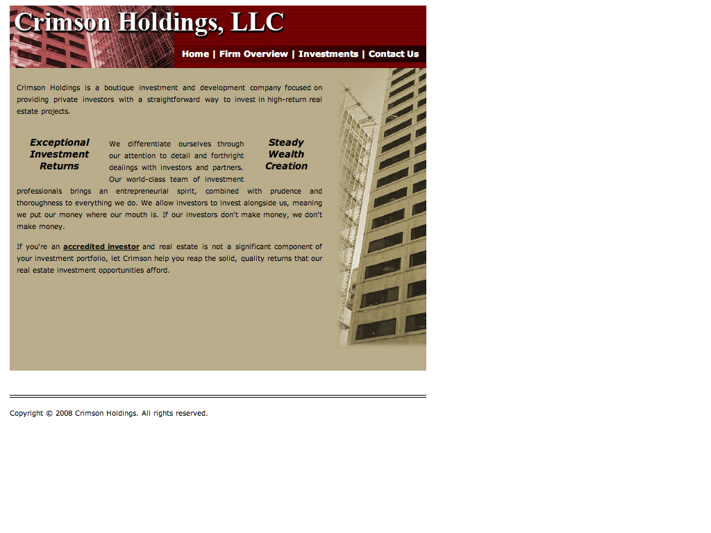 Crimson Holdings LLC (20090226)http---crimsonholdings.com-